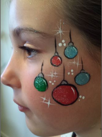 Christmas Face Paint.Christmas Andrea Face Painting Bay Of Plenty